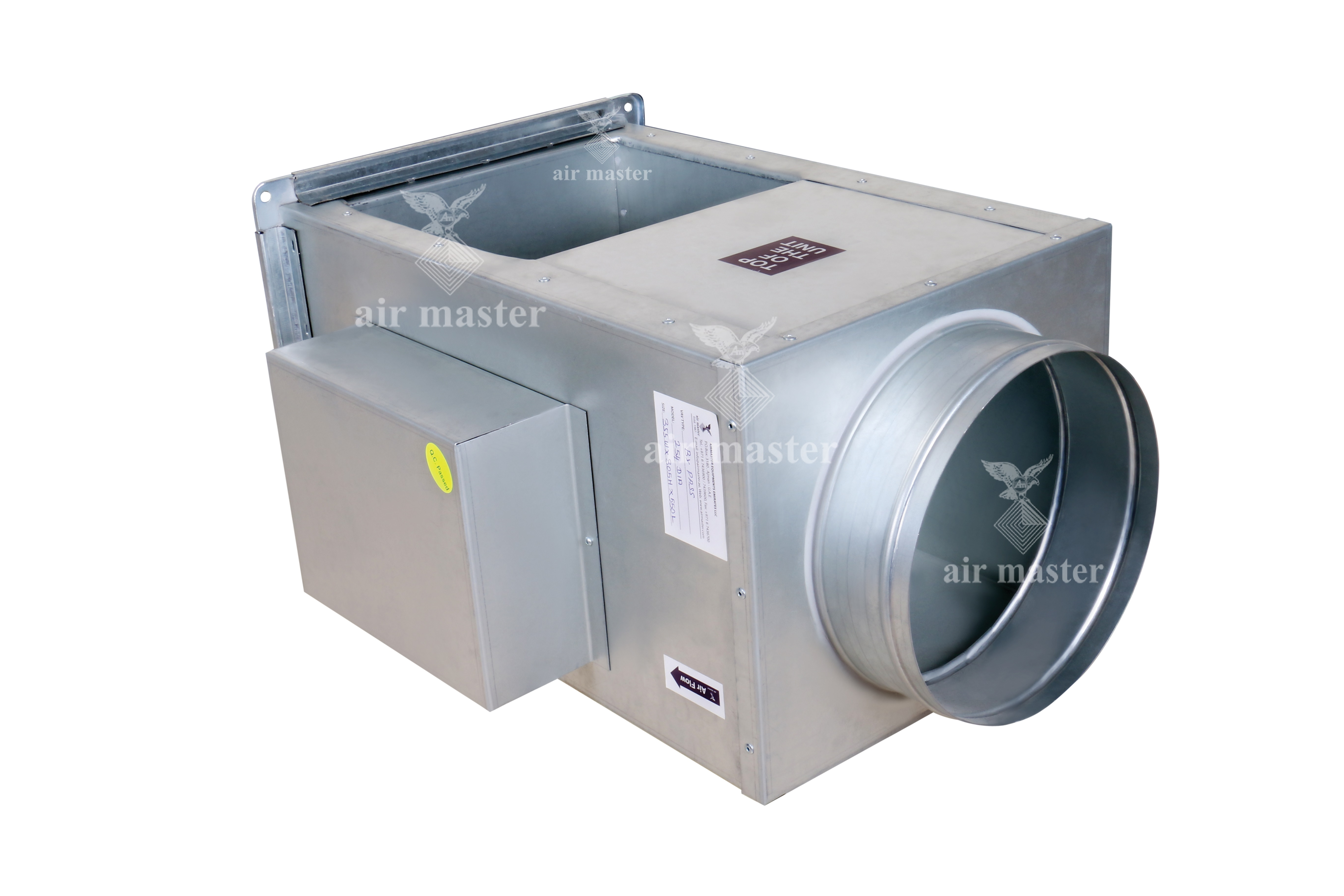 Variable Air Volume : Airmaster emirates by pass vav box manufacturer