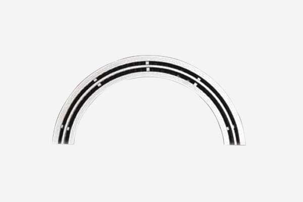 Curved supply air linear slot diffuser
