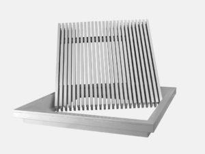Heavy duty floor grille open