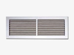 Single deflection grille adjustable blades