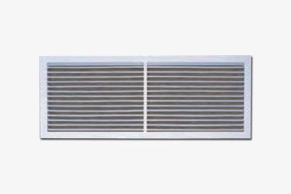Single-deflection grille fixed horizontal blade-ARG-H