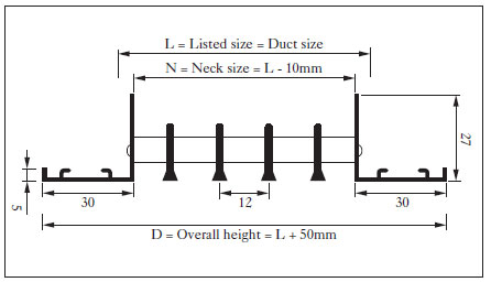 Single deflection linear bar grille ARLG