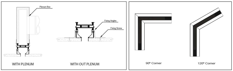 Flow Bar Diffuser Fixing Details